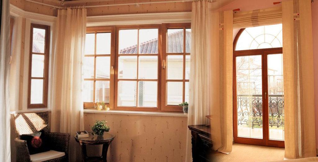 алюминиево деревянные окна
